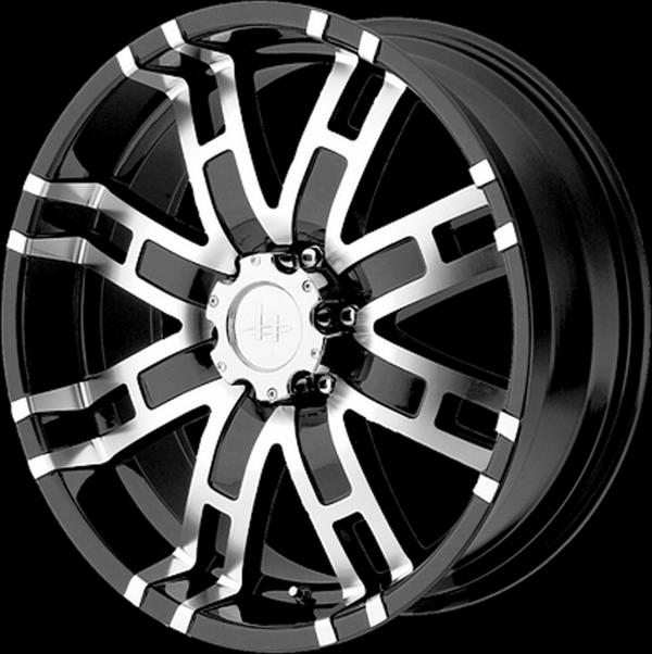 wheels helo wheels chrome and black luxury wheels 2018 Ford E-350 Trailer he835